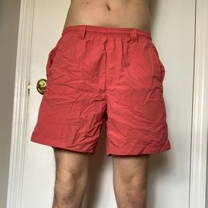 red columbia men's shorts